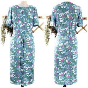 Shelton Stroller Vintage Belted  Floral Dress
